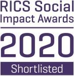 RICS social impact awards 2020 badge third party shortlisted 269 cmyk