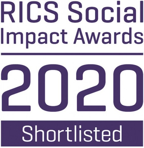 RICS social impact awards 2020 badge third party shortlisted 269 cmyk